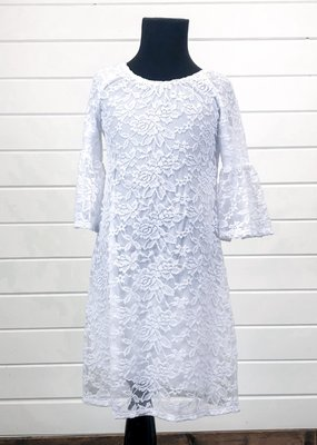 Floral Lace Bell Sleeve Dress