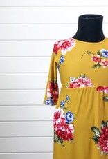 3/4 Sleeve Floral Dress