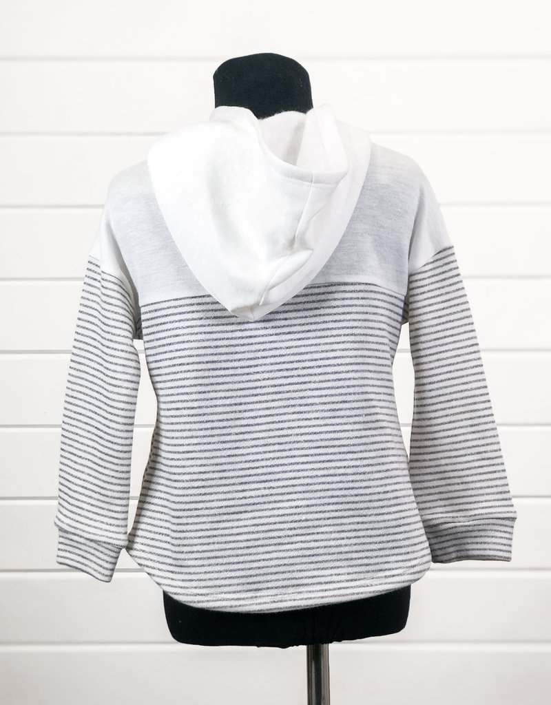 Girls Stripe Hoodie