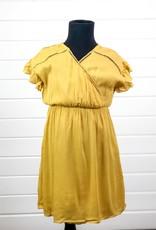 Textured Ruffle Sleeve Dress