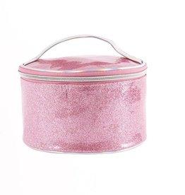 American Jewel LLC Glitter Round Makeup Bag