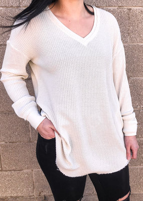 Z Supply The Waffle Thermal Tunic Top