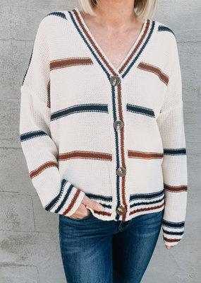 Varsity Stripe Sweater Cardi