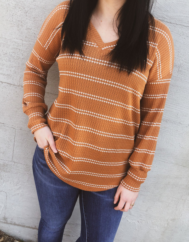 509 Broadway Loose Fit Waffle Top