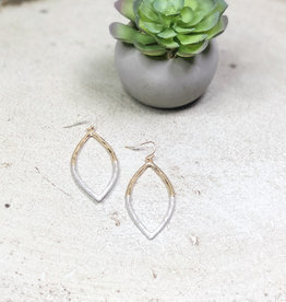 Textured Marquise Earrings