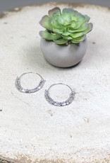 Kenze Penne Layered Beaded Hoop Earring