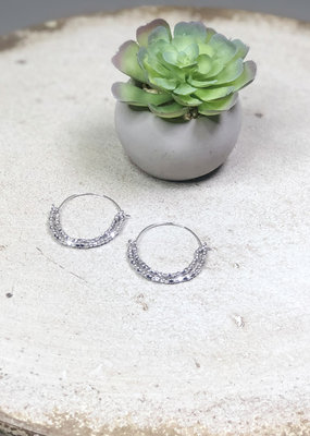 Kenze Penne Layered Beaded Hoop Earring