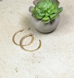 Kenze Penne Flat Open Hoop earring