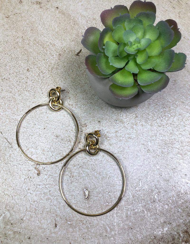 Kenze Penne Double Hoop Dangle Earring