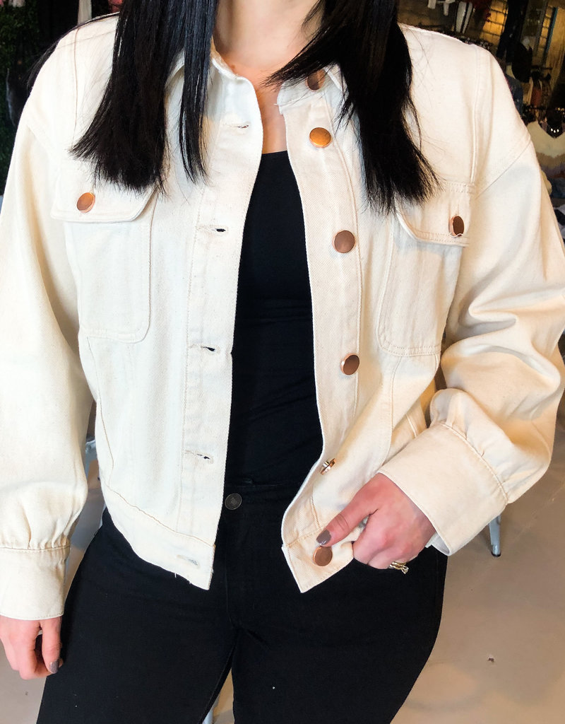 Natural Button Up Jacket