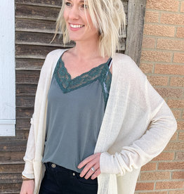 509 Broadway Long Sleeve Cardigan With Pockets