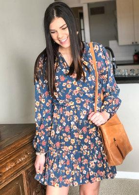 509 Broadway Woven Floral  Print Dress