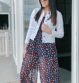 Wide Leg Woven Printed Jumpsuit