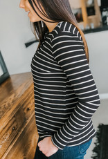 Stripey Print Button Detail Thermal
