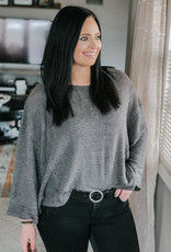 509 Broadway Long Sleeve Thermal Knit Top