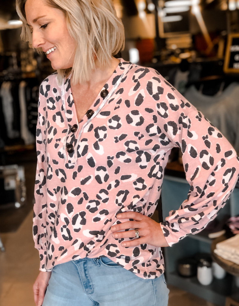 Animal Print French Terry Top