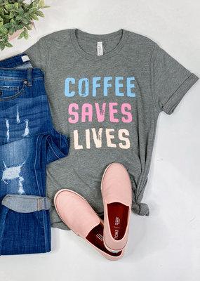509 Broadway Coffee Saves Lives Tee