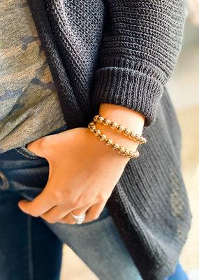 Gold Beaded Adjustable Bracelet