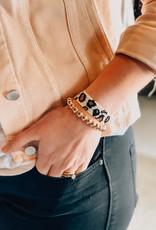 Leopard Beaded Adjustable Bracelet