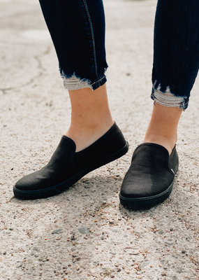 TOMS Black Heritage Canvas Clemente Slip-On