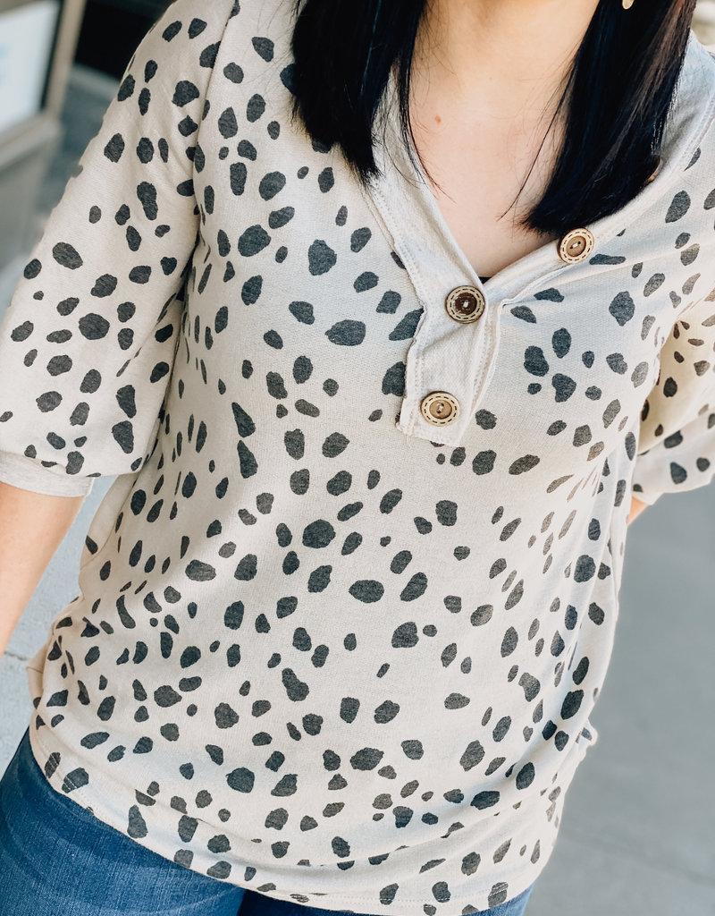 Dalmatian Print Top