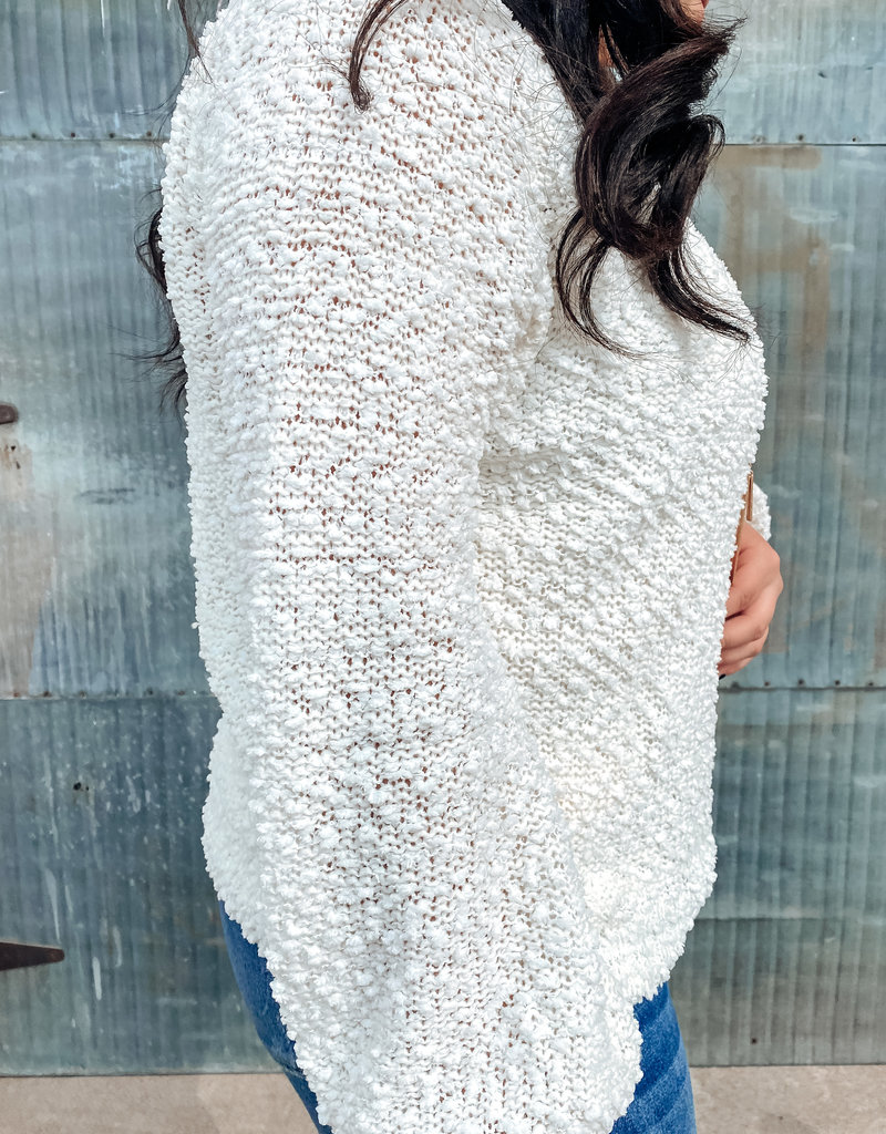 509 Broadway Popcorn Knit Sweater