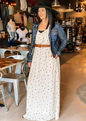509 Broadway Dot Printed Maxi Dress