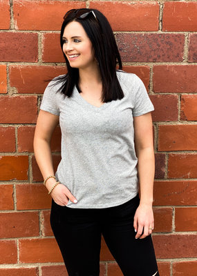 Z Supply The Perfect V-Neck |Grey|