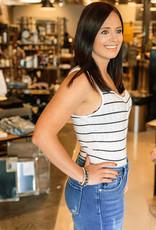 The Seri Stripe Rib Bodysuit