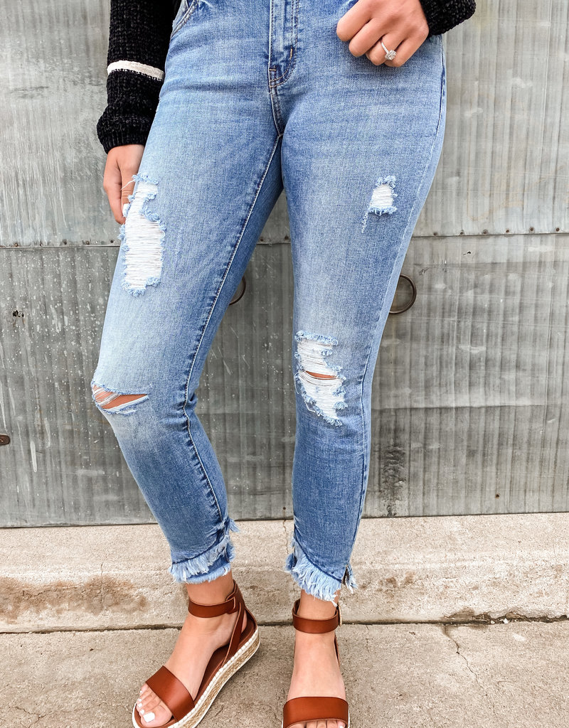 Bailey Mid Rise Ankle Skinny