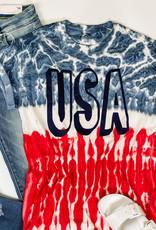 509 Broadway USA Flag Tie Dye Tee