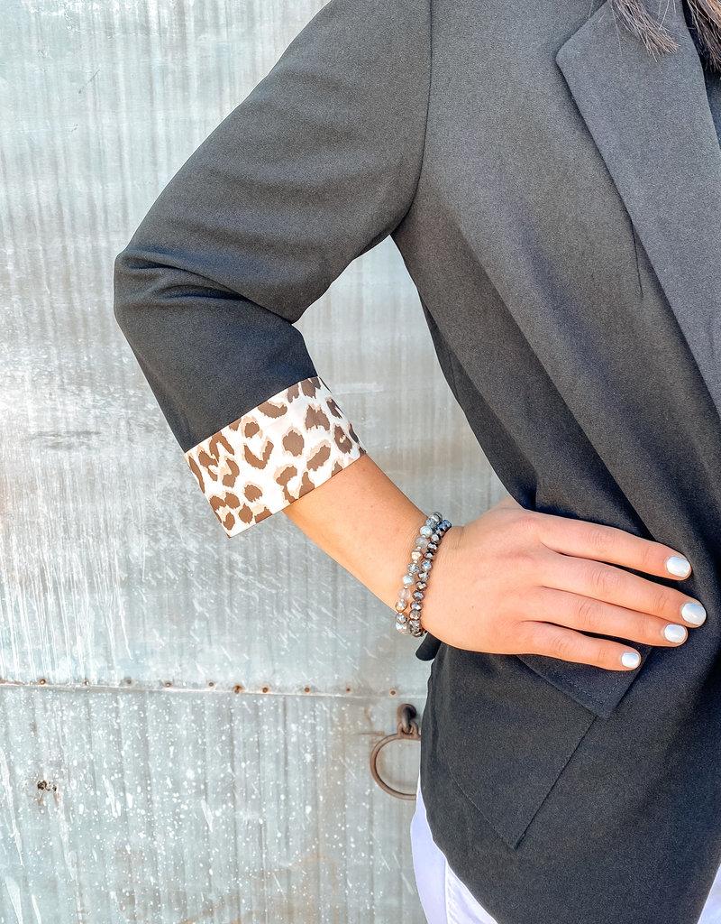 509 Broadway Leopard Detail Blazer