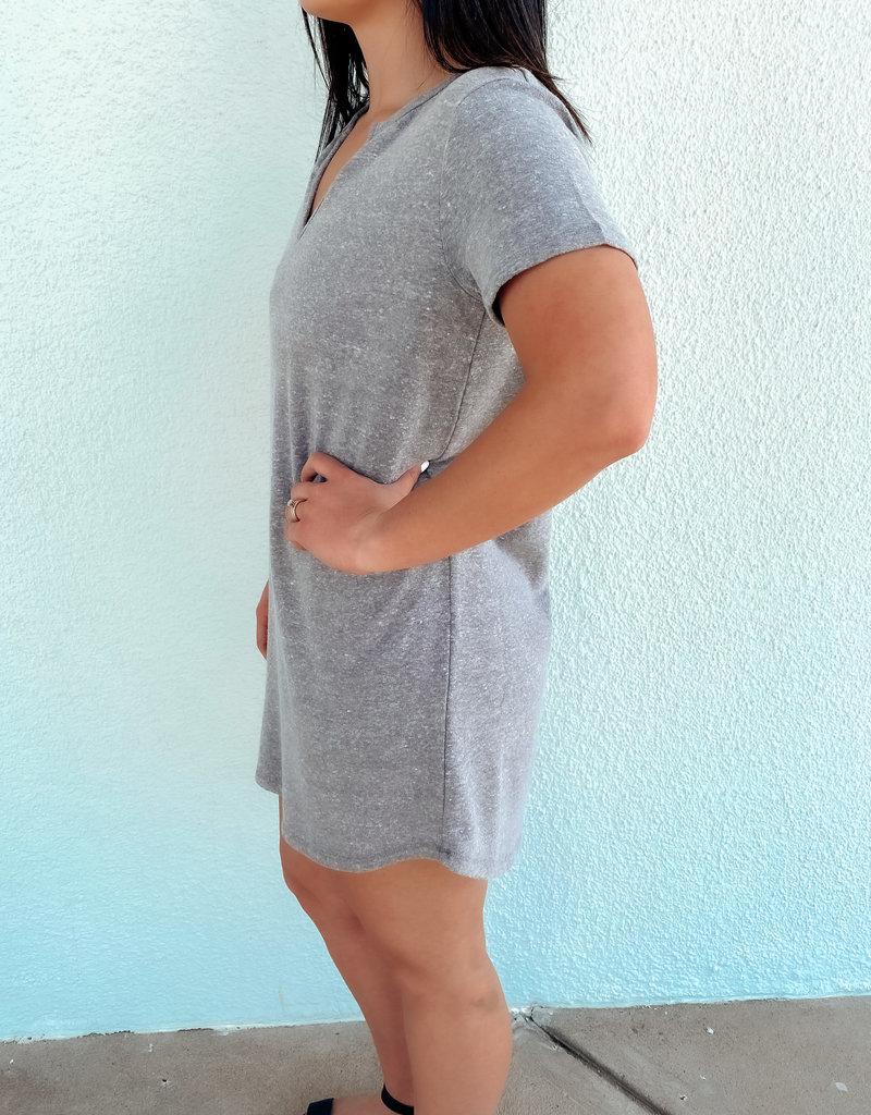 The Split Neck Triblend Dress