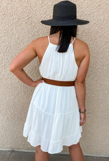 Staccato Key Hole Halter Dress