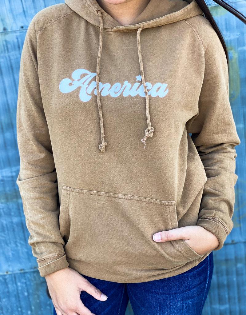 America Vintage Wash Hoodie