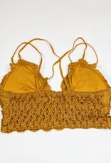509 Broadway Lace Detail Bralette |Mustard|