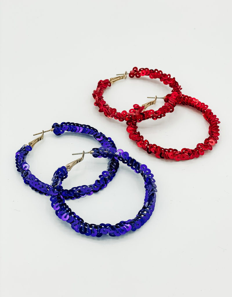 509 Broadway Patriotic Sequin Earring