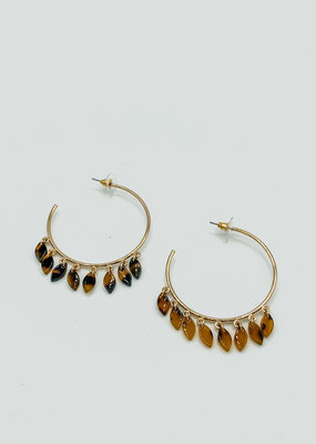 509 Broadway Dangle Hoop Earring