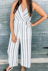 509 Broadway Printed Side Tie Jumpsuit