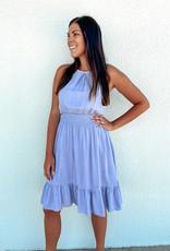 509 Broadway Smocked Waist Adjustable Dress