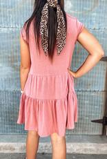 Round Neck Tiered Dress