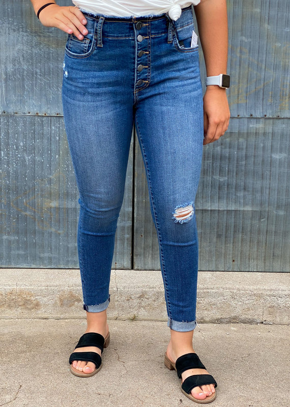 KUT From The Kloth Connie High Rise Ankle Skinny |Headed|