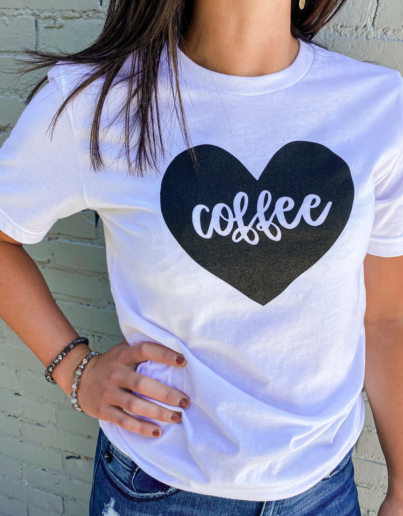 509 Broadway Coffee Heart Tee