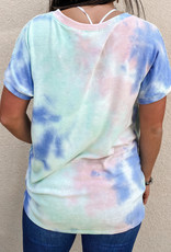 509 Broadway V-Neck Tie Dye Top