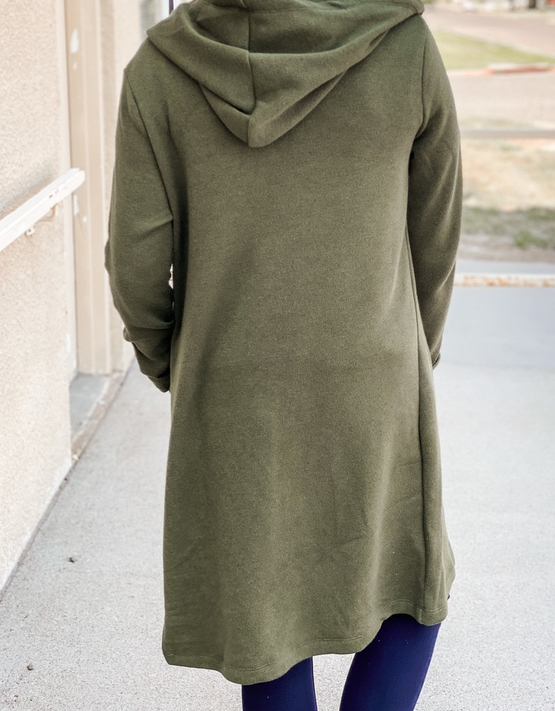 509 Broadway Long Sleeve Hooded Cardigan