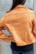 509 Broadway Faux Suede Moto Jacket