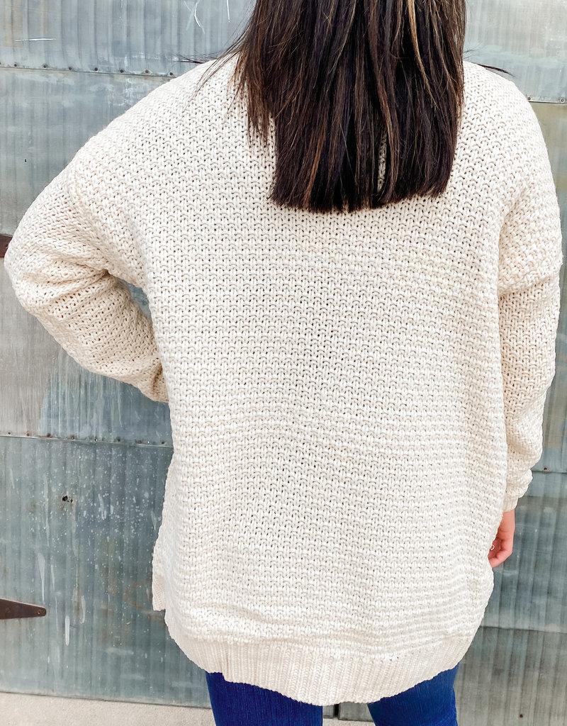 509 Broadway Knit Cardigan Open Sweater
