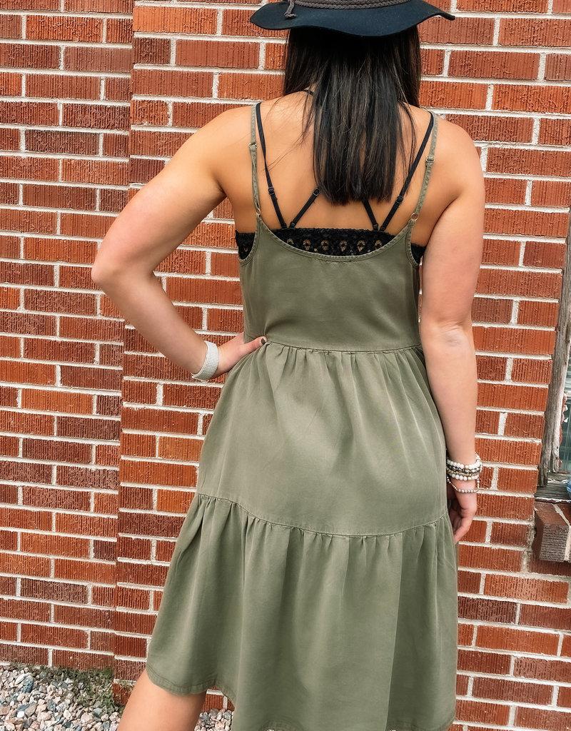509 Broadway Tiered Tencel Mini Dress