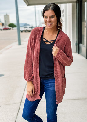 509 Broadway Light Weight Chenille Open Cardigan