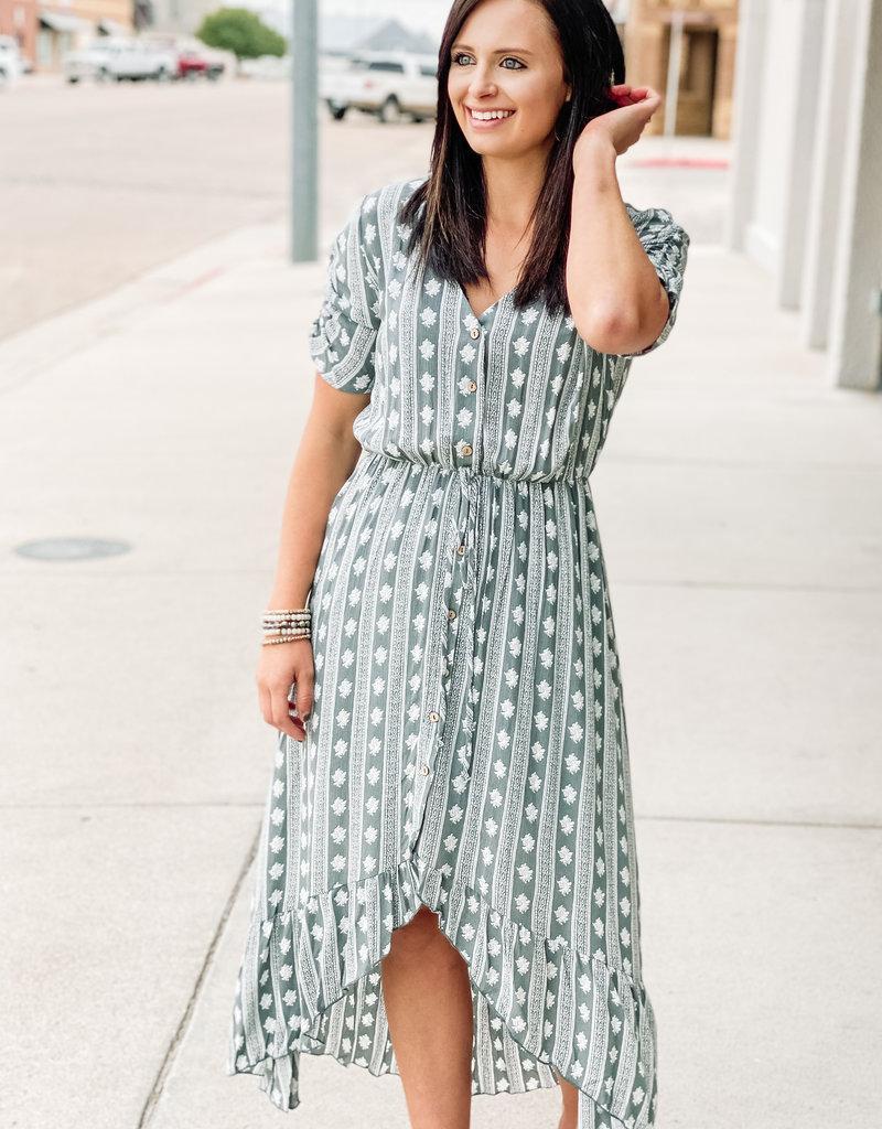 509 Broadway Tribal Print Woven Maxi Dress